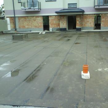 Hydroizolacja dwuwarstwowa patio; 1200m2