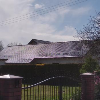Wykonanie więżby dachowej, pokrycie dachówką cementową; 200m2