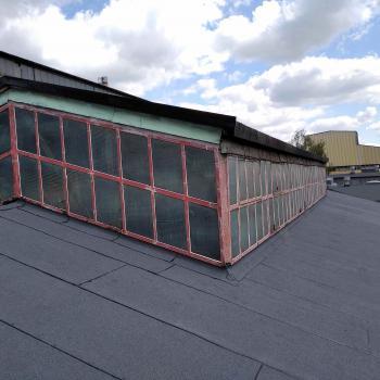 Kompleksowy remont hali produkcyjnej; Nowe pokrycie, orynnowanie oraz system odwodnienia 400m2